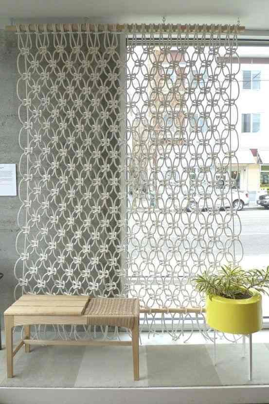 cortina grande de macrame