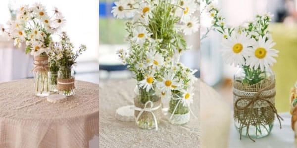 Arranjo flor chá de casa nova