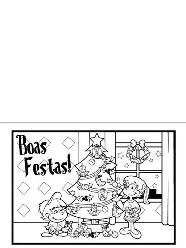 Cartão de natal para imprimir e escrever