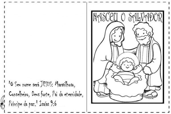 Cartão natal imprimir Menino Jesus