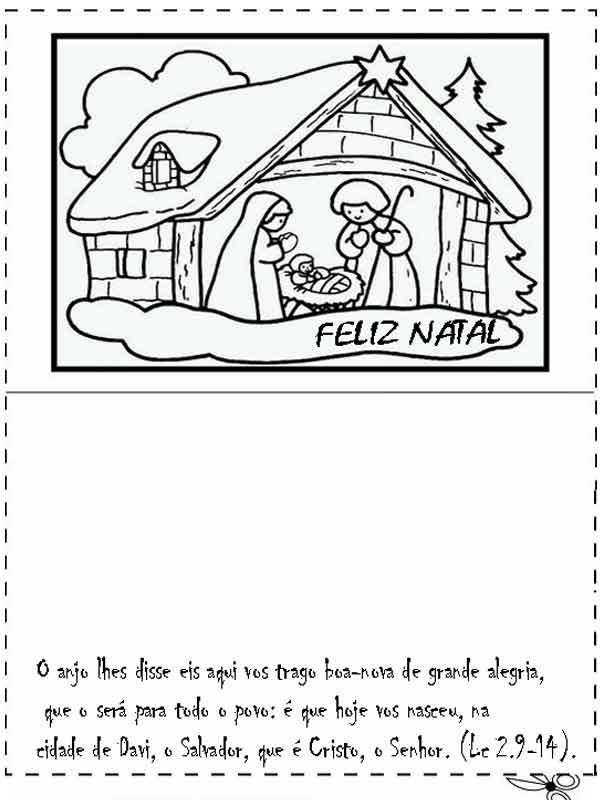 Cartão de natal para imprimir mensagem Deus