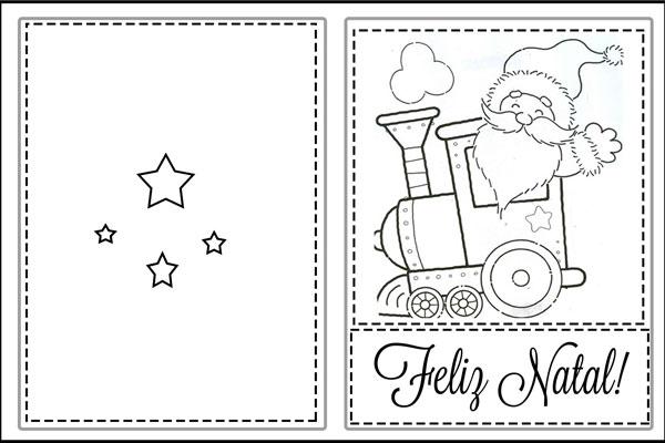 Cartão de natal para imprimir Papai Noel