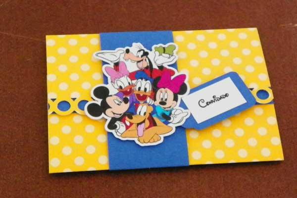 Convite Carta Turma Disney Como Fazer Artesanatos