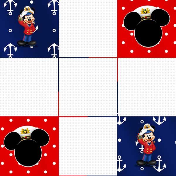 Convite Mickey caixa fundo