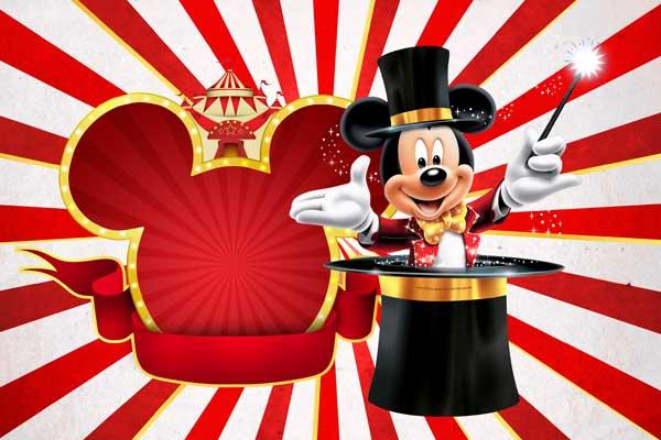 Convite Mickey aniversario circo