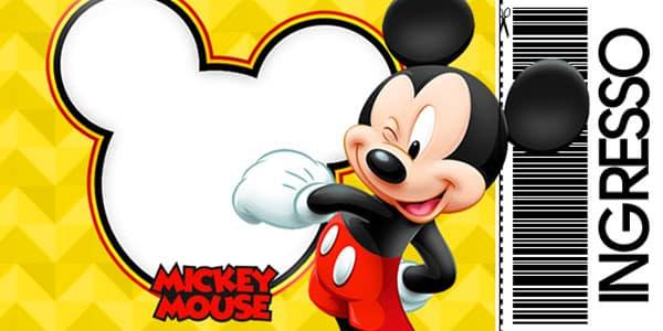 Convite Mickey Ingresso