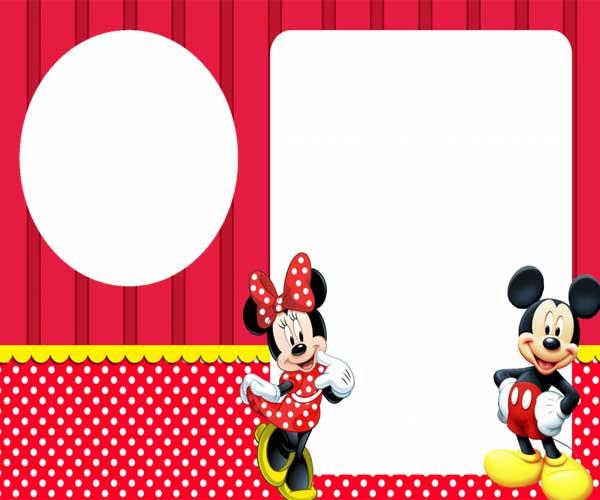 Convite Mickey e Minnie personalizado