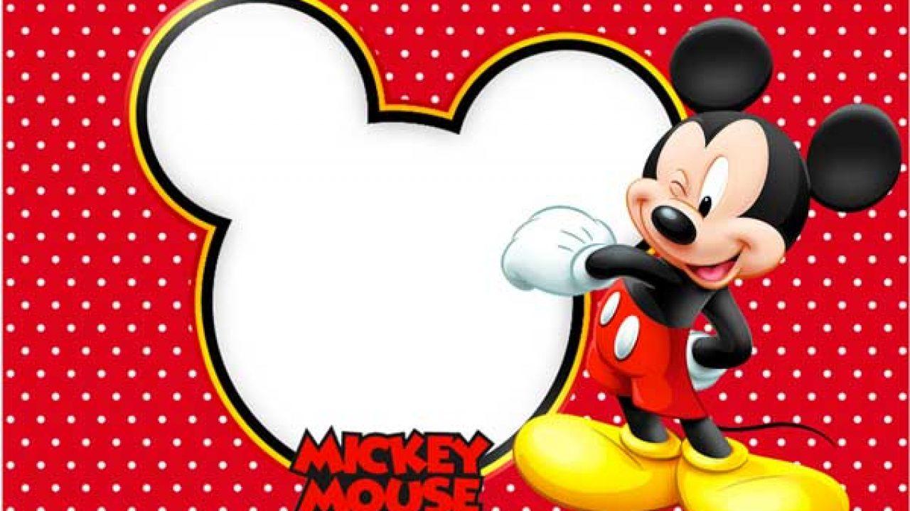 Convite Do Mickey Mouse Modelos Para Imprimir E Editar