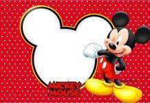 Convite moldura Mickey