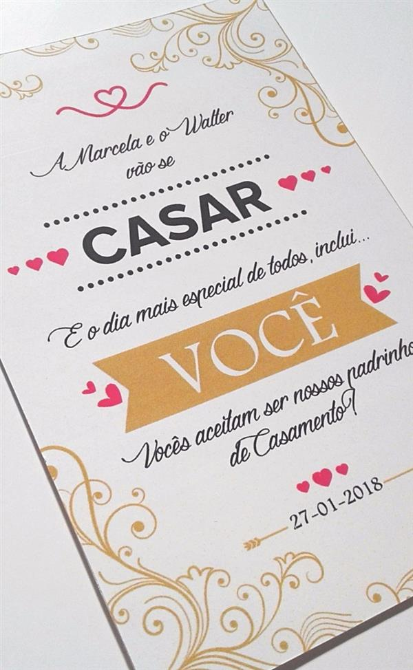 Convite Para Padrinhos De Casamento 30 Fotos E Ideias