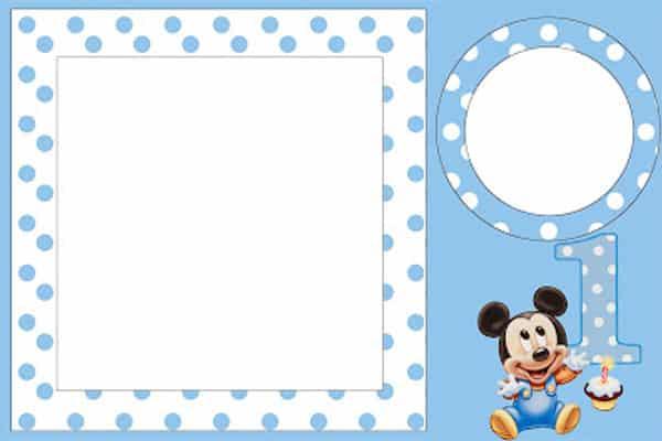 Convite Mickey baby personalizado