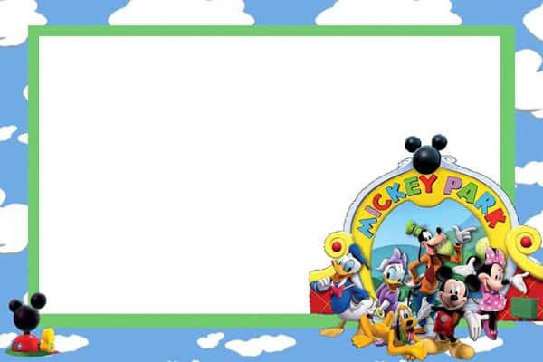Convite Mickey e sua Turma