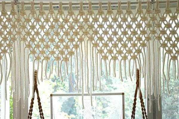 cortina de macrame para iniciantes