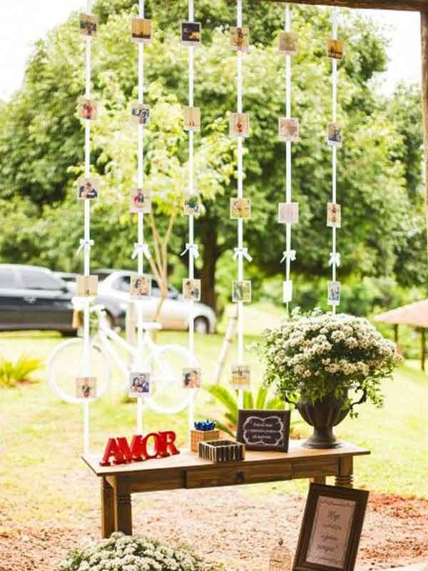 Cortina para decoração de casamento