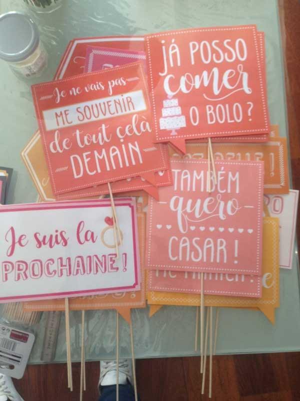 Plaquinhas decorativas para casamento