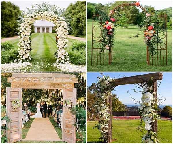 Portão para decoração rústica de casamento