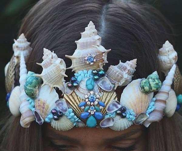 Tiara sereia decoração para criança