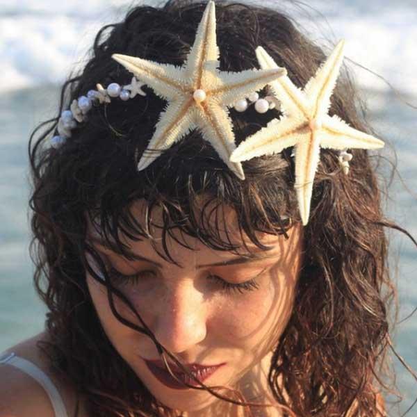 Tiara sereia estrela do mar