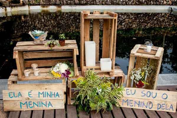decoração de casamento com pallets