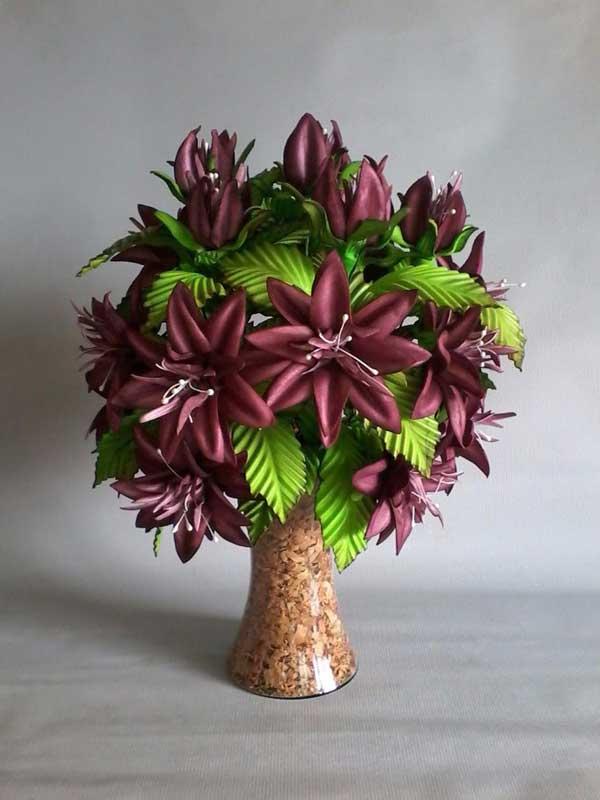 Centro mesa casamento flores escuras
