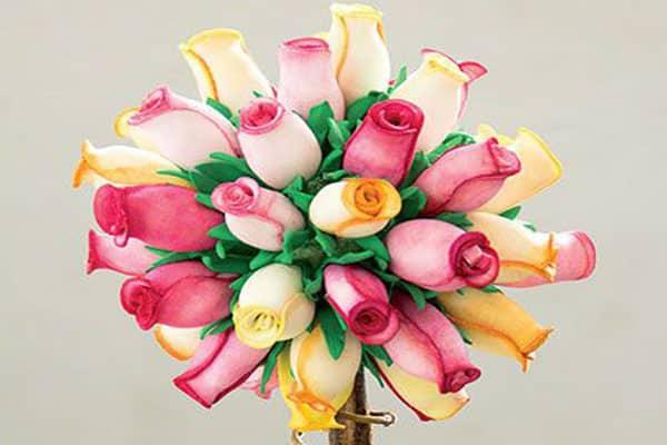 Centro de mesa para casamento flores coloridas