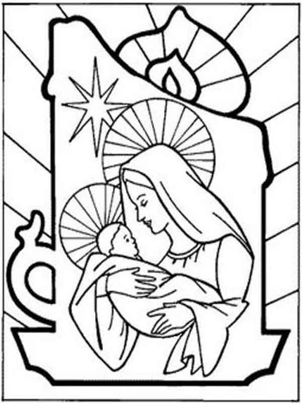 Desenho religião para pontilhismo