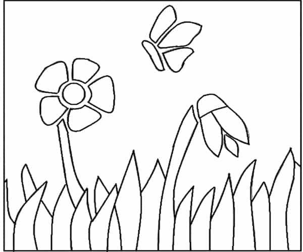 Flores pontilhismo