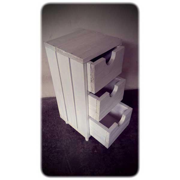 caixote com gavetas