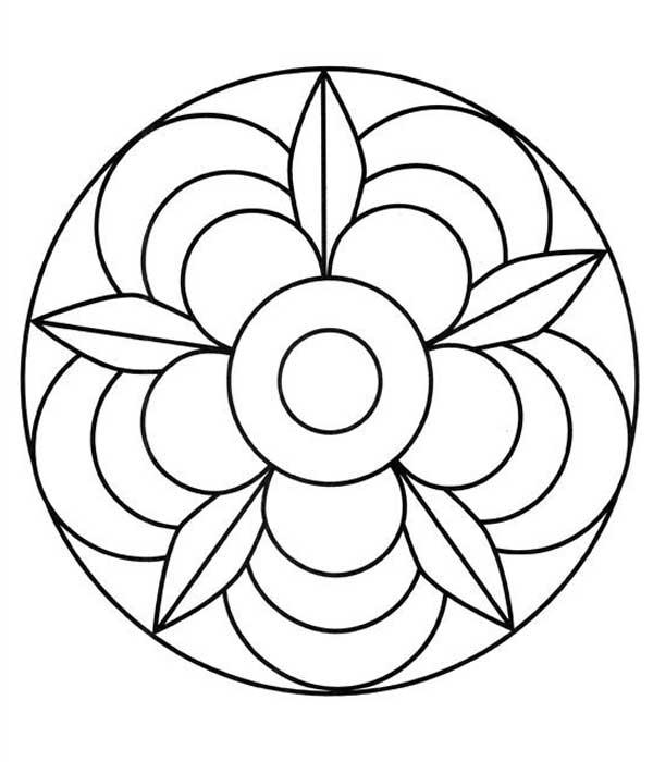 Mandala floral pontilhismo