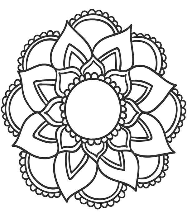 Mandala para pontilhismo