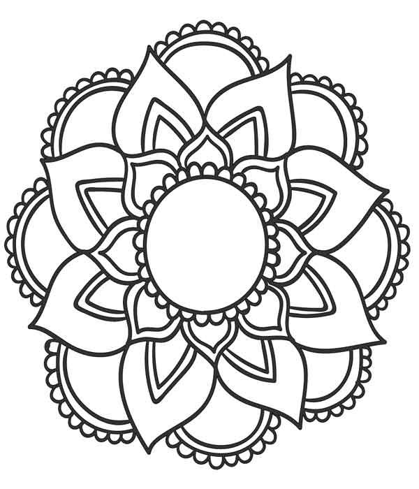 Mandala técnica pontilhismo