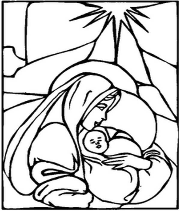 Desenho religioso pontilhismo