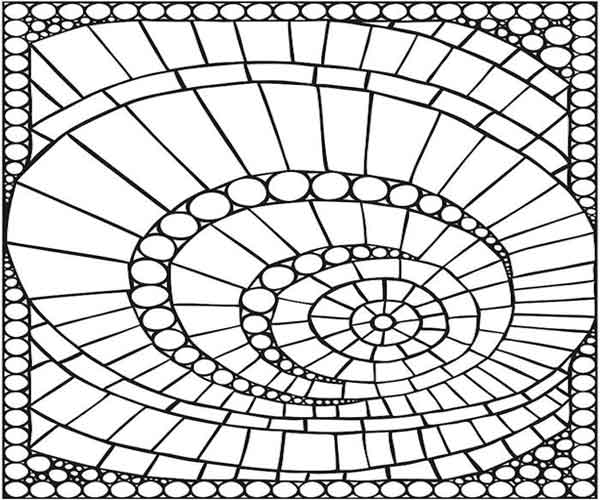 Mosaico abstrato pontilhismo