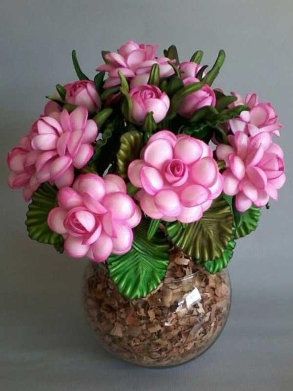 Vaso flor centro de mesa para casamento