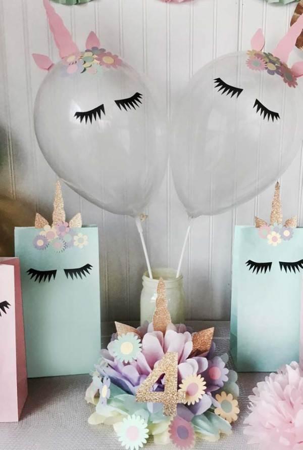 balões de unicórnio