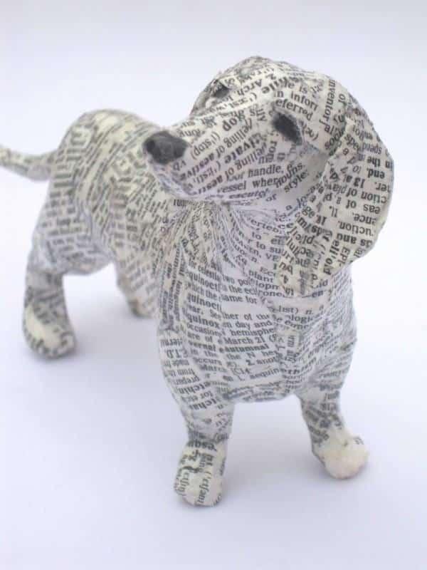 cachorro papel mache 2