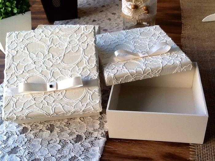 caixa de mdf decorada com tecido