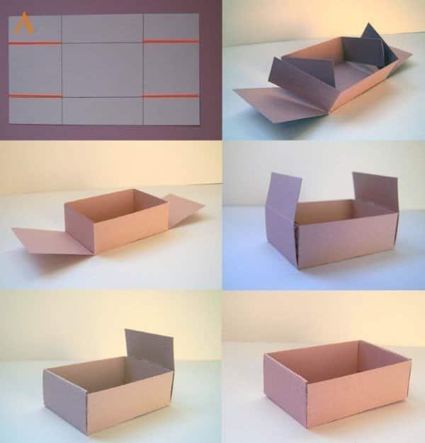 caixa de papel instruções