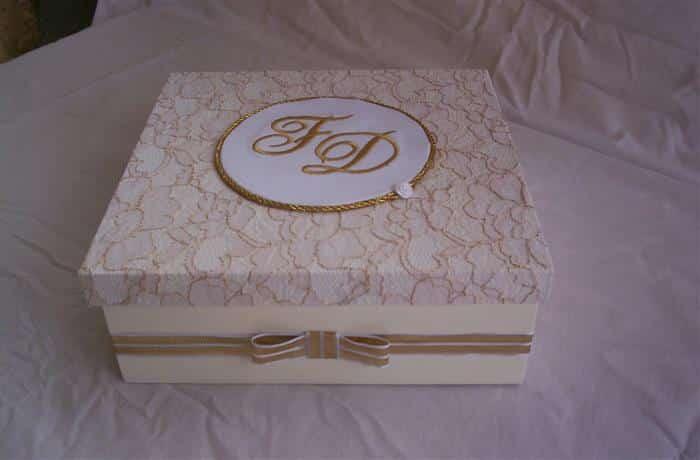 caixa de mdf decorada com renda