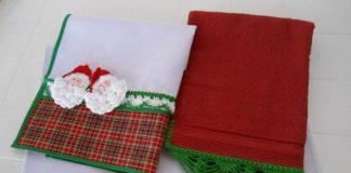 toalhinhas de papai noel natal
