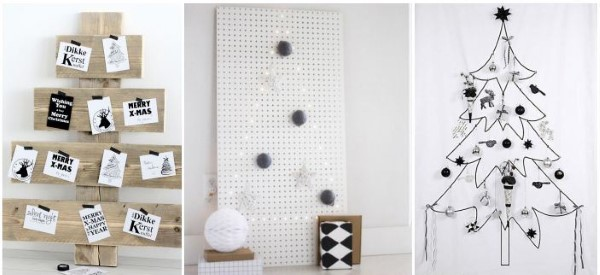 arvores de natal de parede modelos diferentes