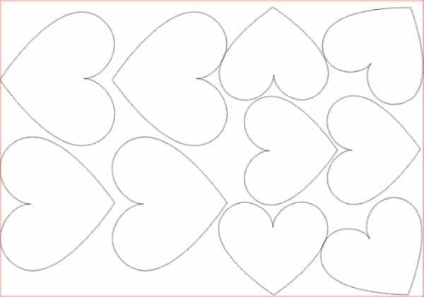 coração pequeno para cortina de corações