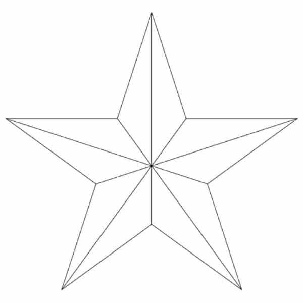 estrela 3d molde