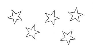 estrelas pequenas para recortar