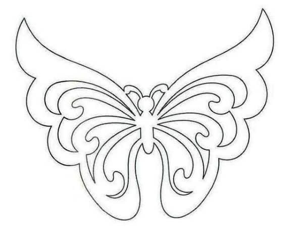 molde borboleta vazada
