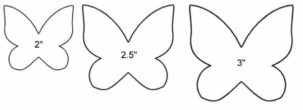 molde de borboleta feltro