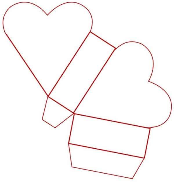 molde de coração 3d