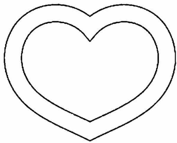 molde de coração impressão