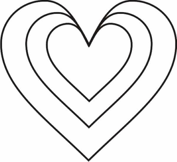 molde de coração para vitrine