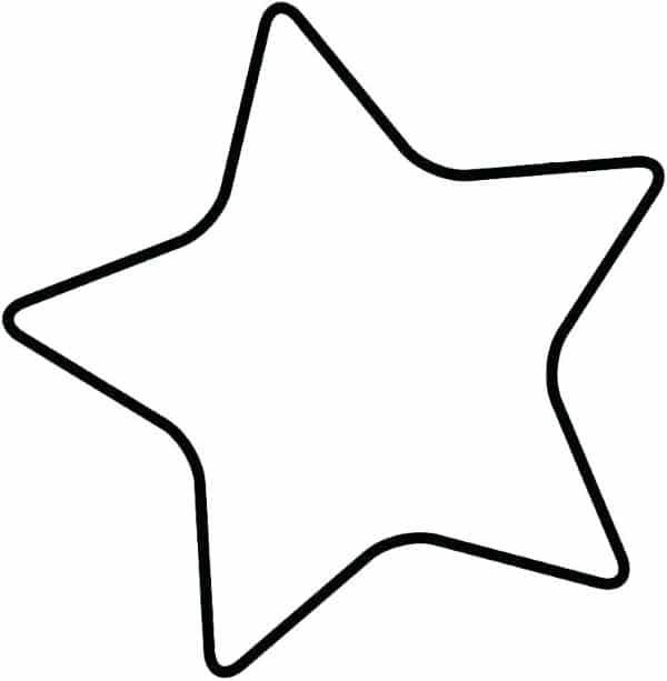 molde de estrela de 5 pontas